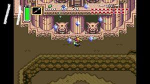 神々のトライフォースのゲーム画像・塔の前