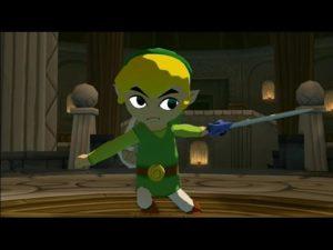 風のタクトのゲーム画像・剣を振るリンク