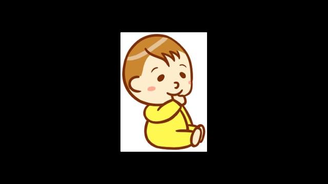 指しゃぶりをする乳児のイラスト