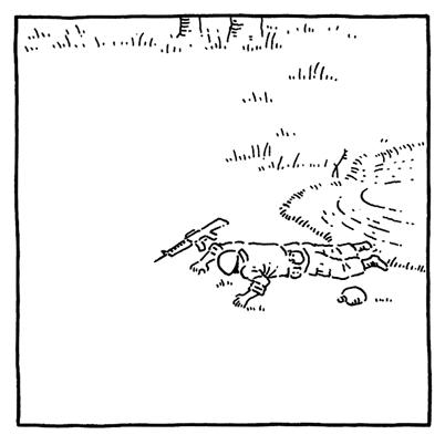 戦争で死んだ兵士のことの一場面の画像