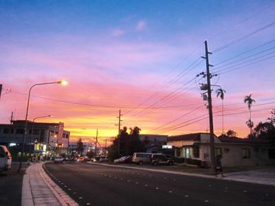 コロール島の夕焼け