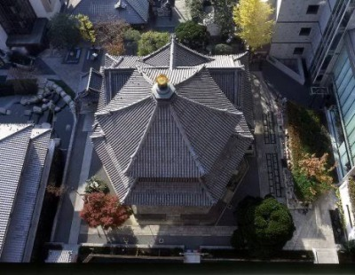 京都の六角堂を上から見た図