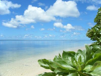 ペリリュー島のビーチ