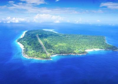 ペリリュー島の航空写真