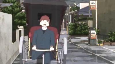 矢一郎の偽車夫の人力車