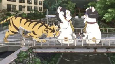 虎になった矢一郎と招き猫の金閣・銀閣