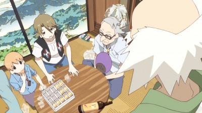 赤玉先生の名言に呆れる矢三郎と金光坊