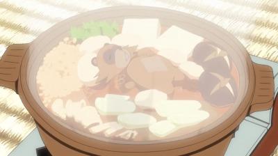 鍋の中に浮かぶ矢三郎