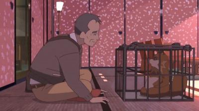 淀川教授と会話する檻の中の総一郎