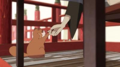 握手する総一郎と赤玉先生