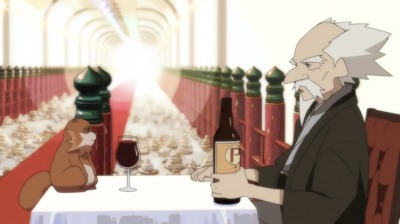 赤玉先生と最後の酒を飲む総一郎