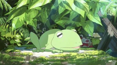 井戸の中の矢二郎蛙