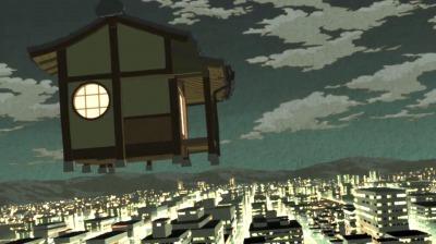 薬師坊の奥座敷で浮遊する矢三郎と矢四郎