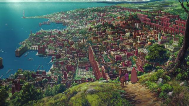 ゲド戦記の街並み