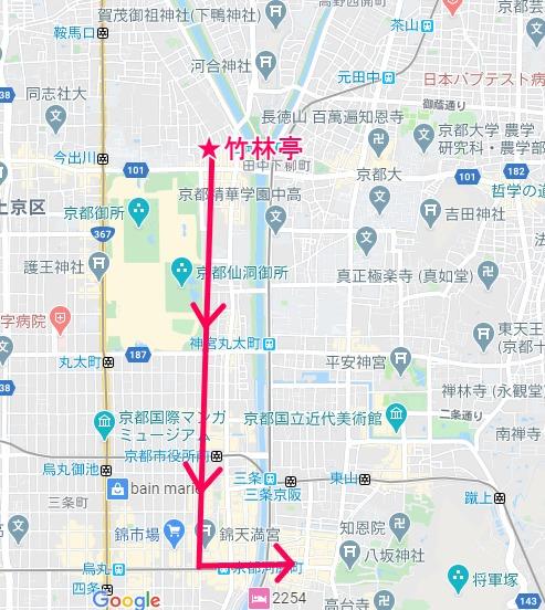 矢二郎の偽叡山電車の爆走ルートの地図
