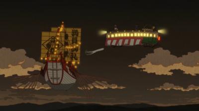 偽叡山電車と夷川家の納涼船