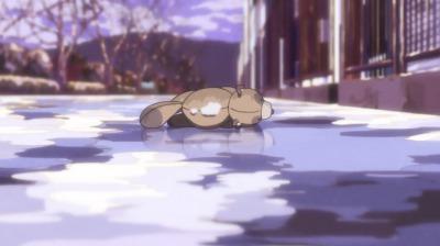 矢一郎がひいたぬいぐるみの狸