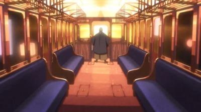 偽叡山電車に乗って遊ぶ総一郎