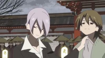 矢三郎を傘に化けさせる弁天