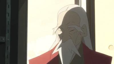 片目が鋭い寿老人