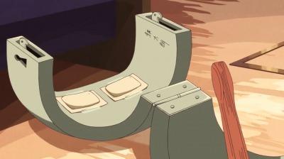 ホッカイロが貼ってある鉄のパンツ