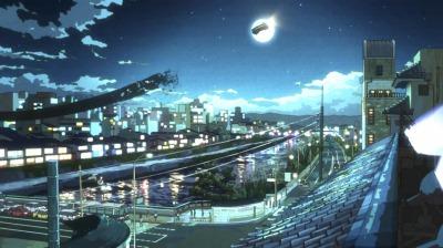 偽寺町通を抜け鴨川上空に飛び出す偽叡山電車