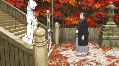 花嫁姿の桃仙と晴れ着の総一郎