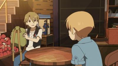 じゃれる矢三郎と海星につっこむ矢四郎