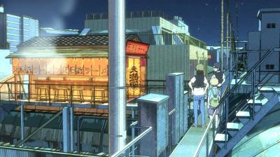 寺町アーケードの作業用通路に建てられた天満屋のラーメン屋