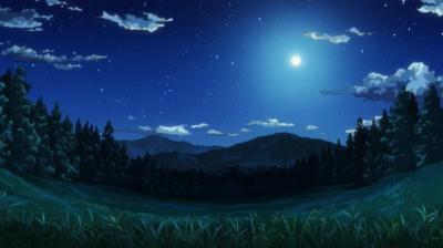 矢三郎が過ぎに縛られたまま忘れられた、雲ケ畑の美しい満月