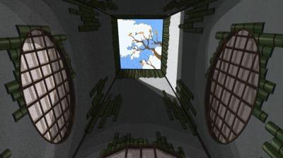 総一郎の将棋の部屋・吹き抜けの空の柿の実