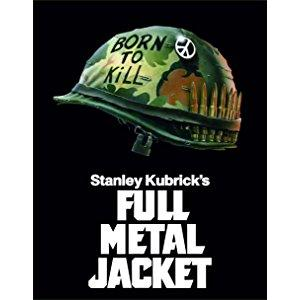 ジョーカーのヘルメットとフルメタルジャケットのタイトルロゴ