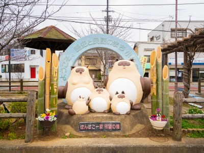 小松島市の狸像