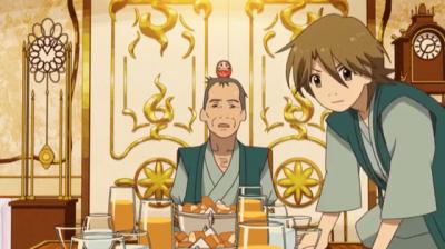しばられ銃を向けられた淀川教授を助ける矢三郎