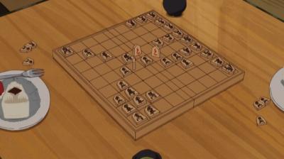 菖蒲池画伯とでたらめ将棋をする矢三郎