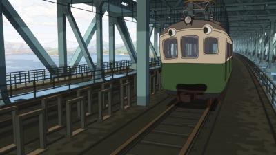 偽叡山電車に化け呉一郎を乗せる矢二郎