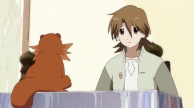 朱硝子で話す矢三郎と総一郎