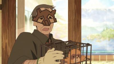 ぽんぽこ仮面の格好をした淀川教授