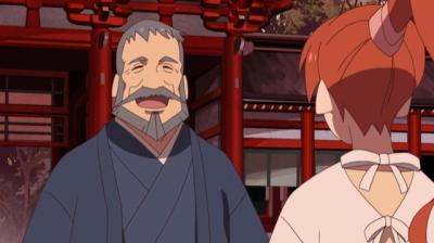 温泉でにおいが消えてしまい笑う総一郎と心配する桃仙