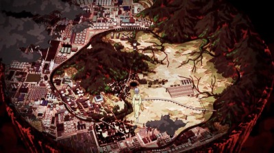 地獄絵の世界、全体図
