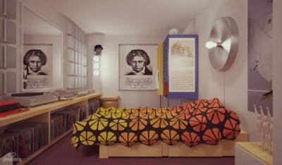 時計じかけのオレンジのアレックスの部屋