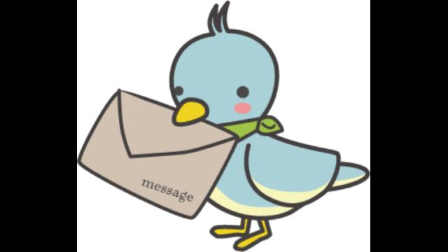 手紙を持った小鳥のイラスト