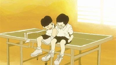 テレビアニメ・ピンポンの1シーン