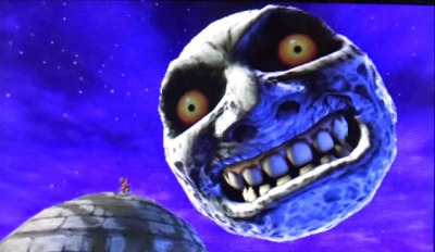 怖いゼルダ③ムジュラの仮面・落ちてくる月の顔3D